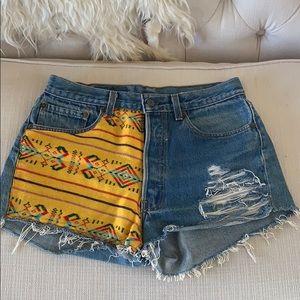 Custom Vintage Levi Jean Shorts- Size 27/28 ☀️